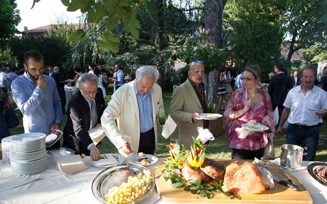 Buffet nel parco